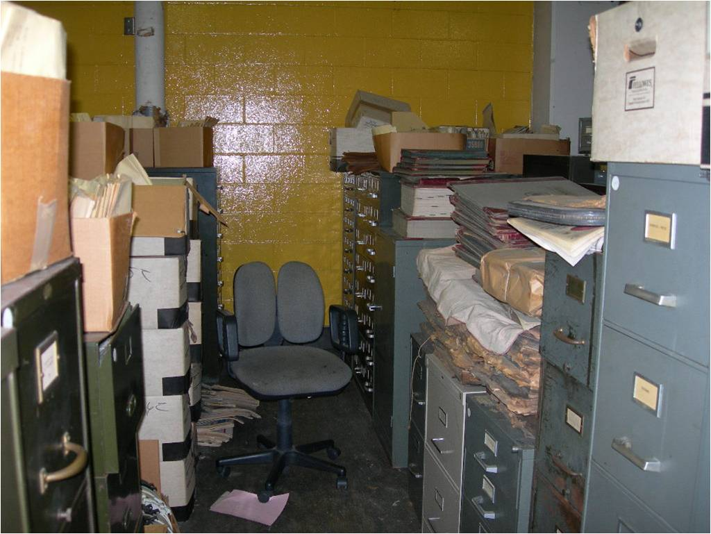 State of the collection at the old DDN building