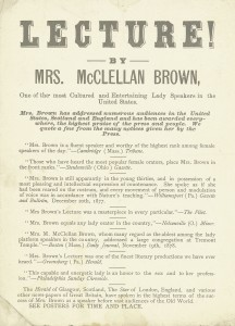 Martha McClellan Brown Broadside Announcement