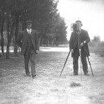 Photographing Wilbur Wright at Le Mans, 1908