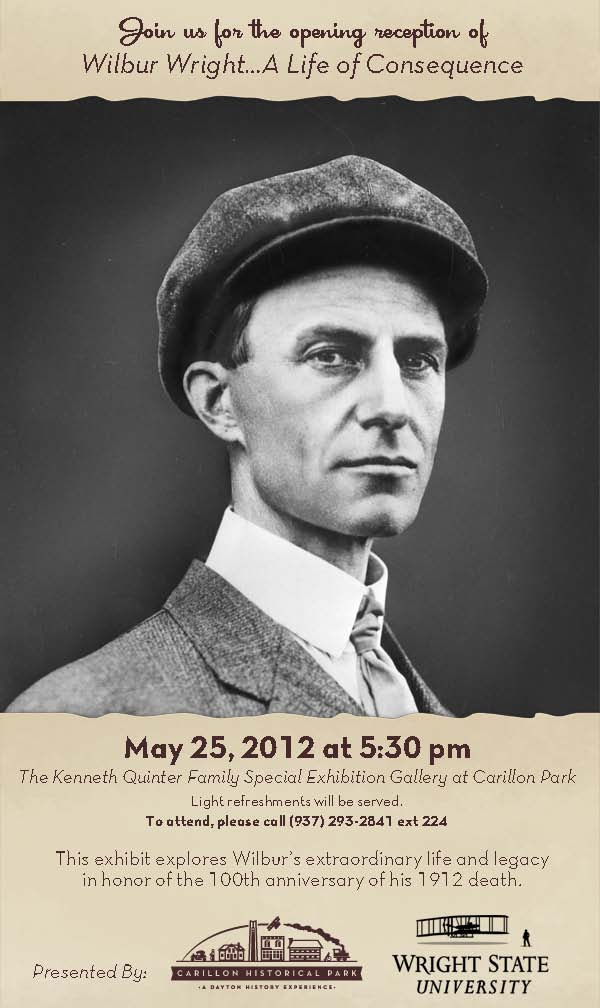 poster for Wilbur Wright exhibit 2012