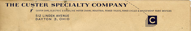 The Custer Specialty Company letterhead