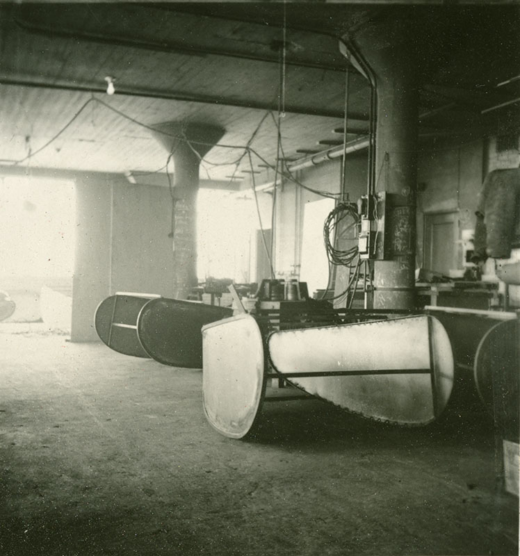 Custer Specialty Co. factory photo, 1939: chair bodies