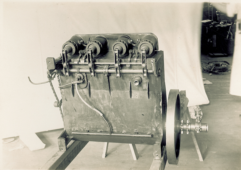 Bottom view of Wright 1903 engine (16-4-2)