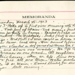 JGC Schenck diary entry, March 25, 1913, Part 2 of 2