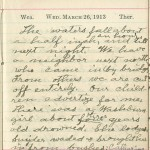 Milton Wright diary entry, March 26, 1913