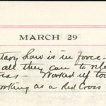 JGC Schenck diary entry, March 29, 1913