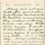 Milton Wright diary entry, March 30, 1913