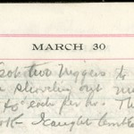JGC Schenck diary entry, March 30, 1913