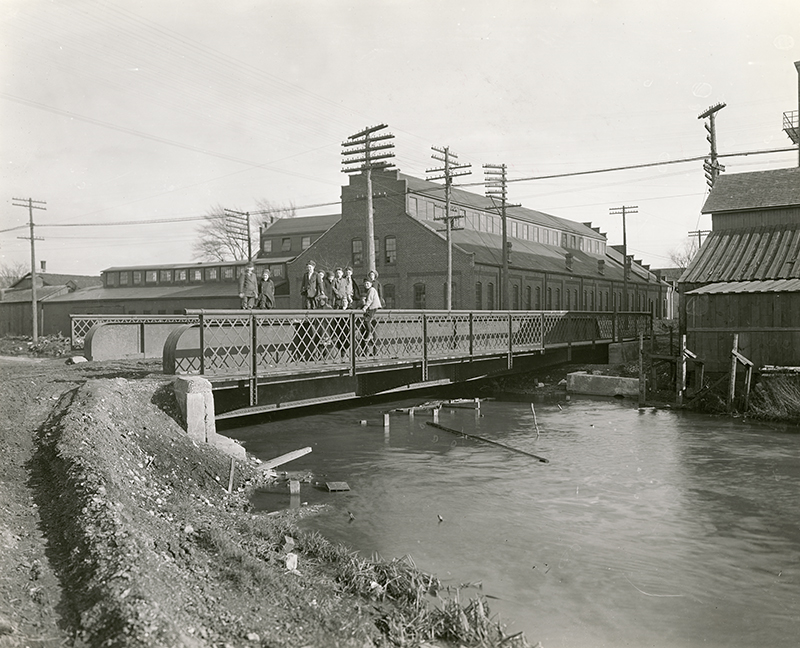 [A bridge over the Miami-Erie Canal]