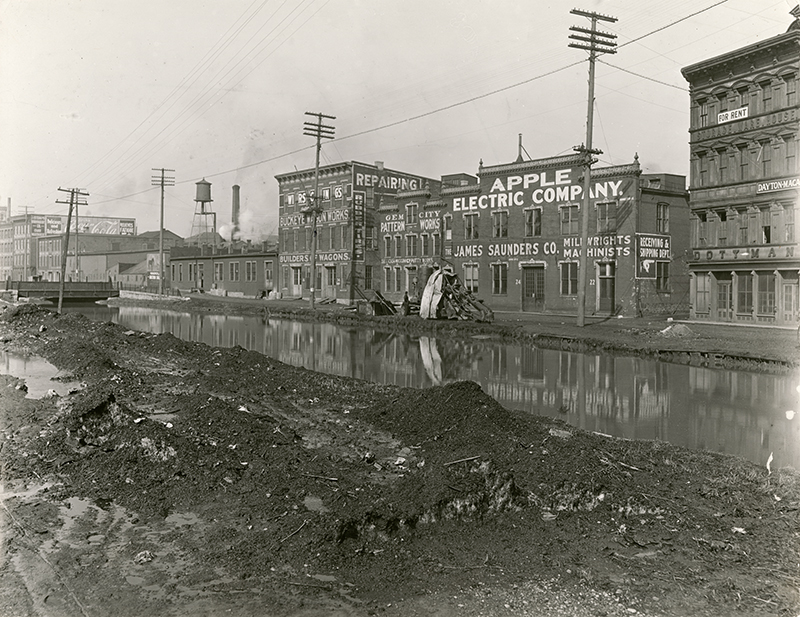[Canal near Apple Electric Co. and Buckeye Wagon Works]