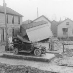 Automobile damaged by the flood (ms128_2-5-43)
