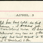 JGC Schenck diary entry, April 5, 1913