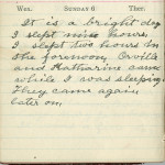 Milton Wright diary entry, April 6, 1913