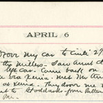 JGC Schenck diary entry, April 6, 1913