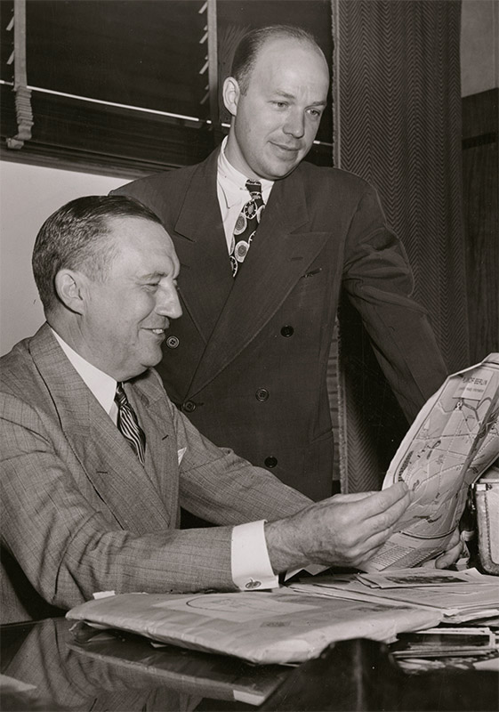 Stanley Allyn and Robert Oelman, ca. 1947