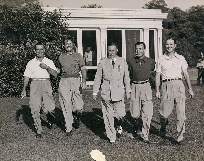 S. C. Allyn (center), at the 1945 PGA tournament in Dayton