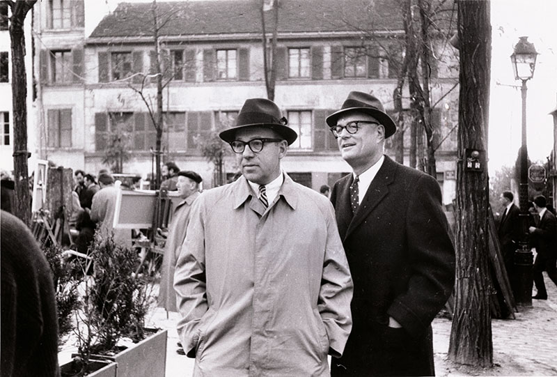 Robert S. Oelman and Keith Funston in Paris, Nov. 1963