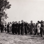 Spectators at the Dayton Campus (now WSU) Groundbreaking, May 31, 1963. (University Archives)