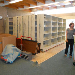 Movable shelving installation