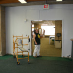 Painting the reading room