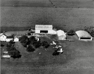 Korn Field and Farm in Jackson Center, Ohio circa 1948 (ms220_1_1_002)