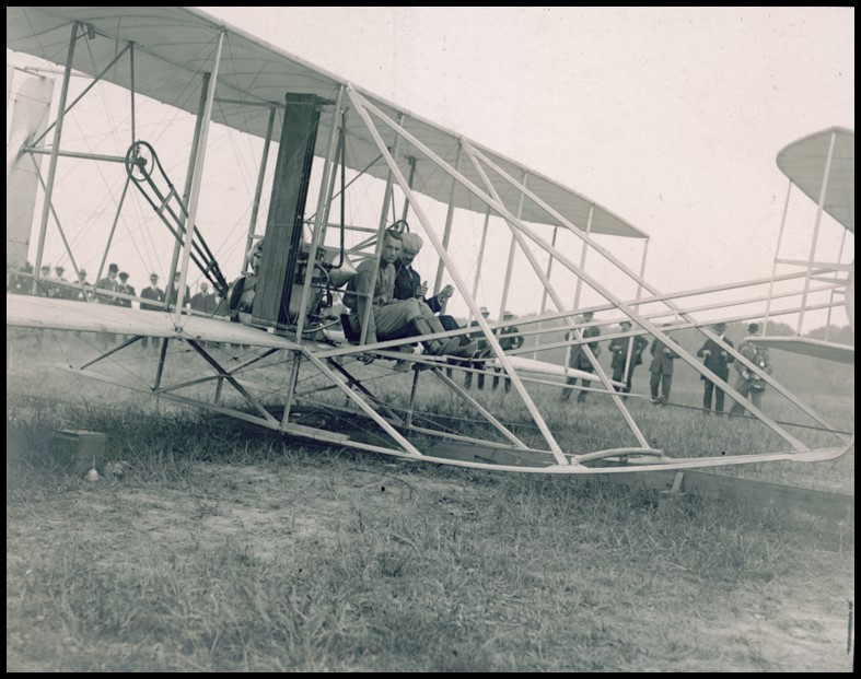 Lt. Thomas E. Selfridge and Orville Wright just prior to take-off on Sept. 17, 1908 (MS-1, 45-50)
