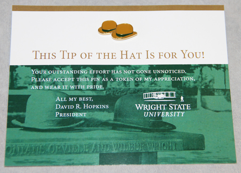 Dr. David Hopkins' special Tip of the Hat award