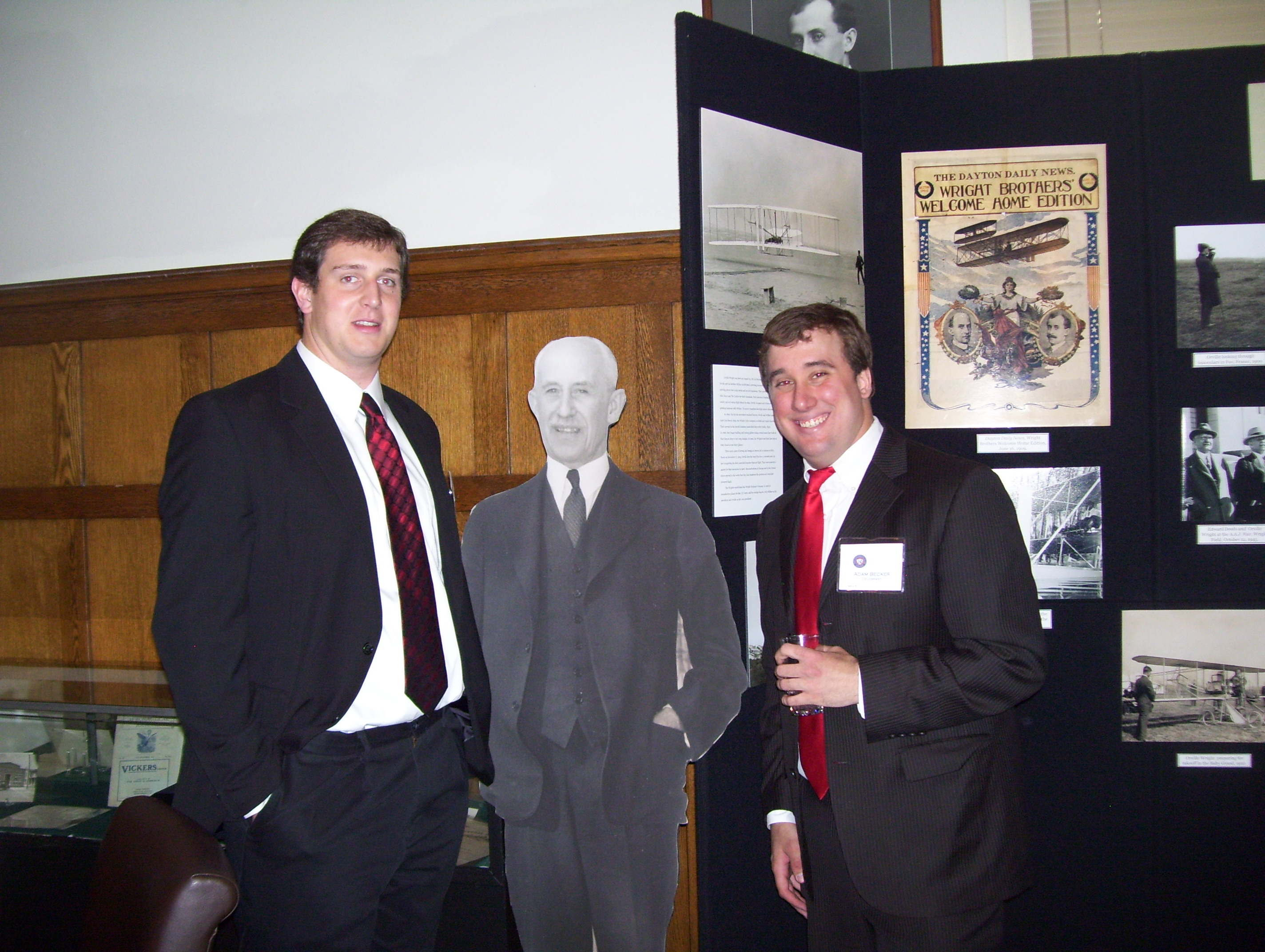 Jordan (left) and Adam with Orville Wright, April 26, 2014