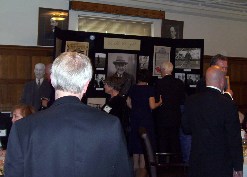 Attendees at the centennial celebration enjoying the exhibit, April 26, 2014