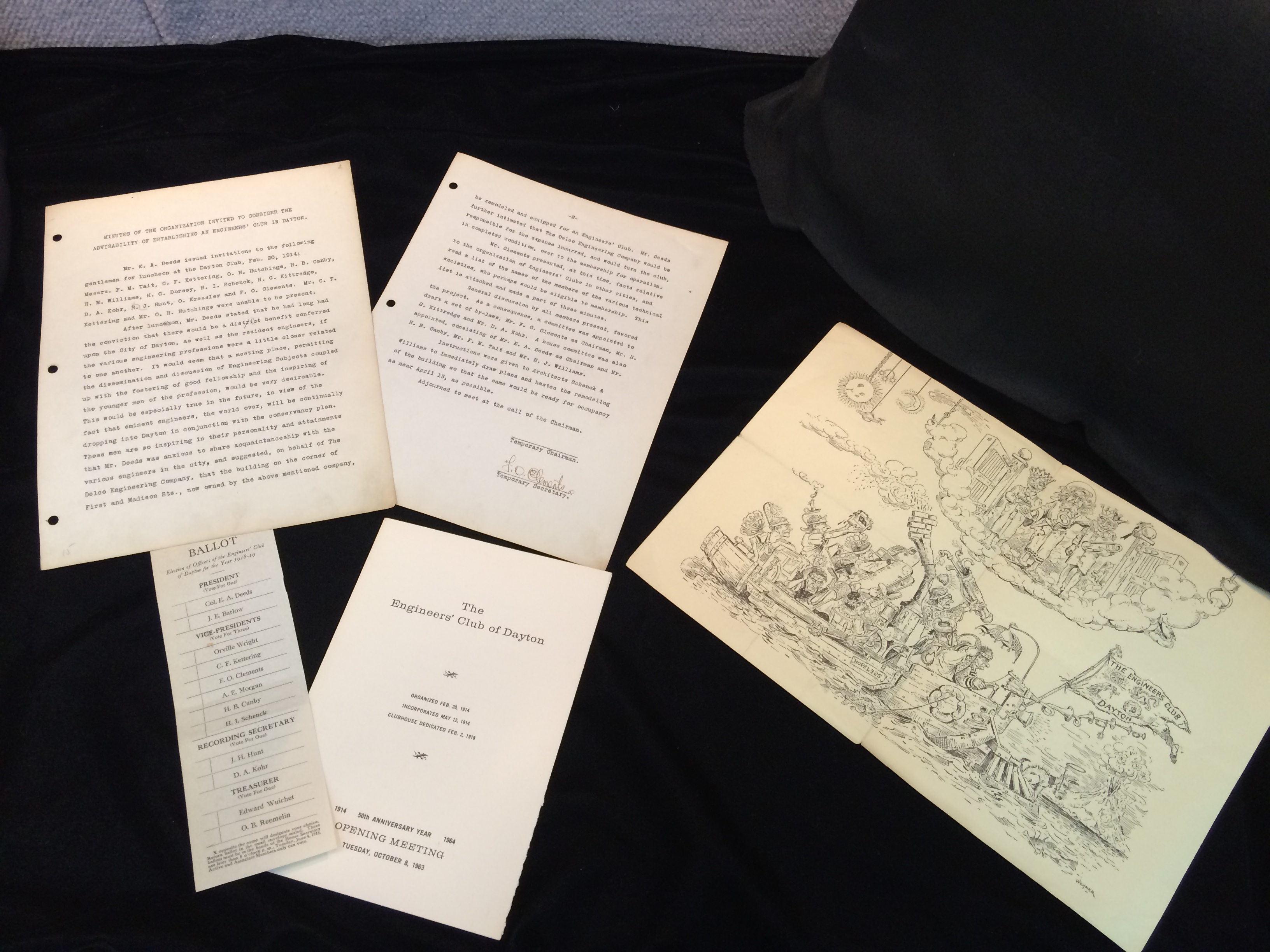 Original minutes, programs, and illustrations