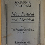 May Festival and Theatrical Program, 5 May 1918 (MS-480, Dayton Liederkranz-Turner Collection, Box 1, File 1)