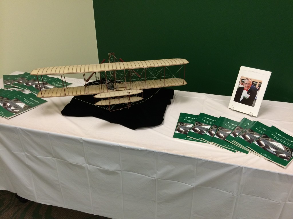 Howard DuFour and Wright Flyer model, 6/13