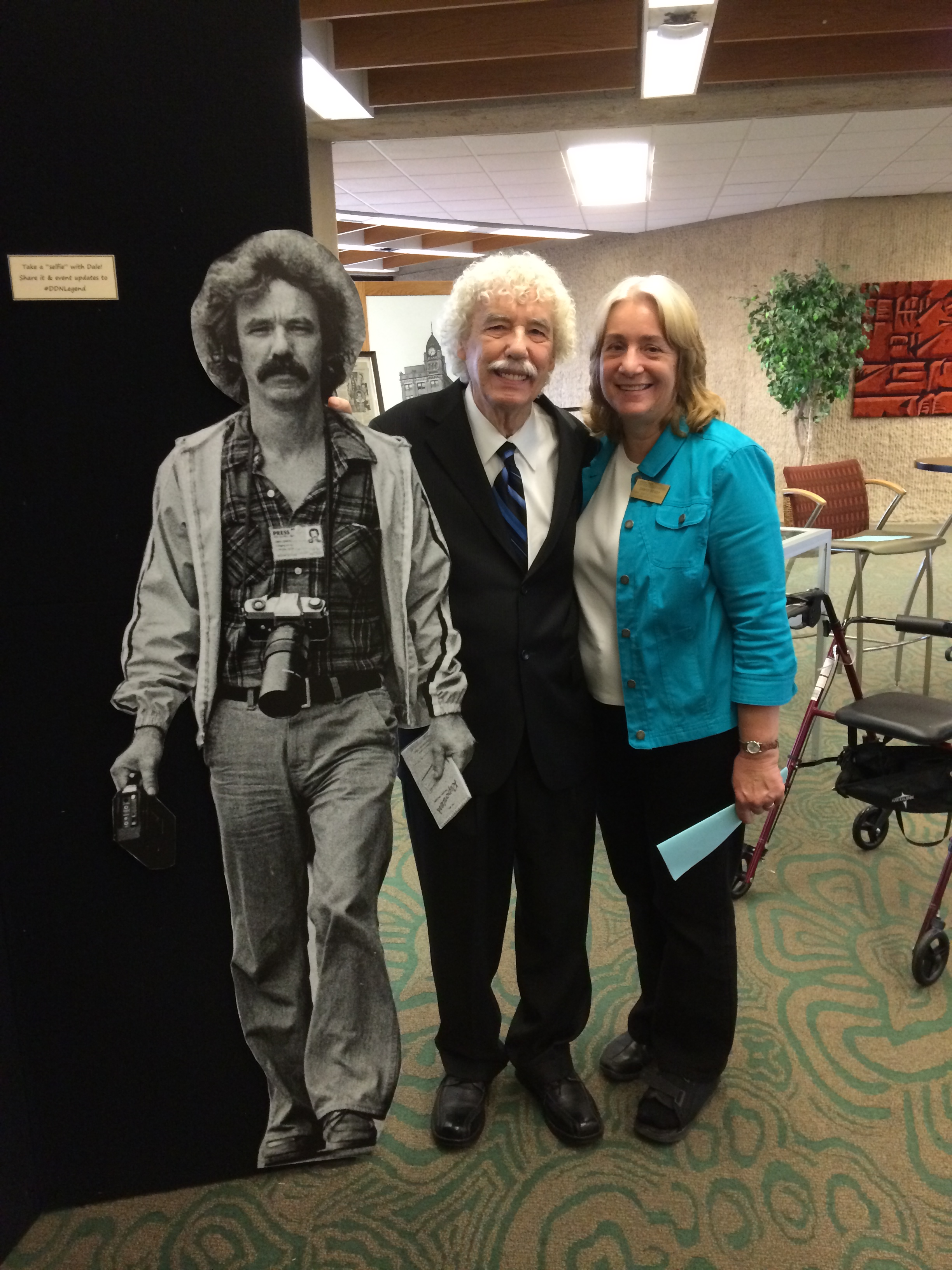 Dale and Dawne with the life-size cutout