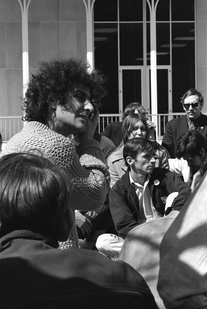 Abbie Hoffman on Wright State Quad, March 17, 1969.