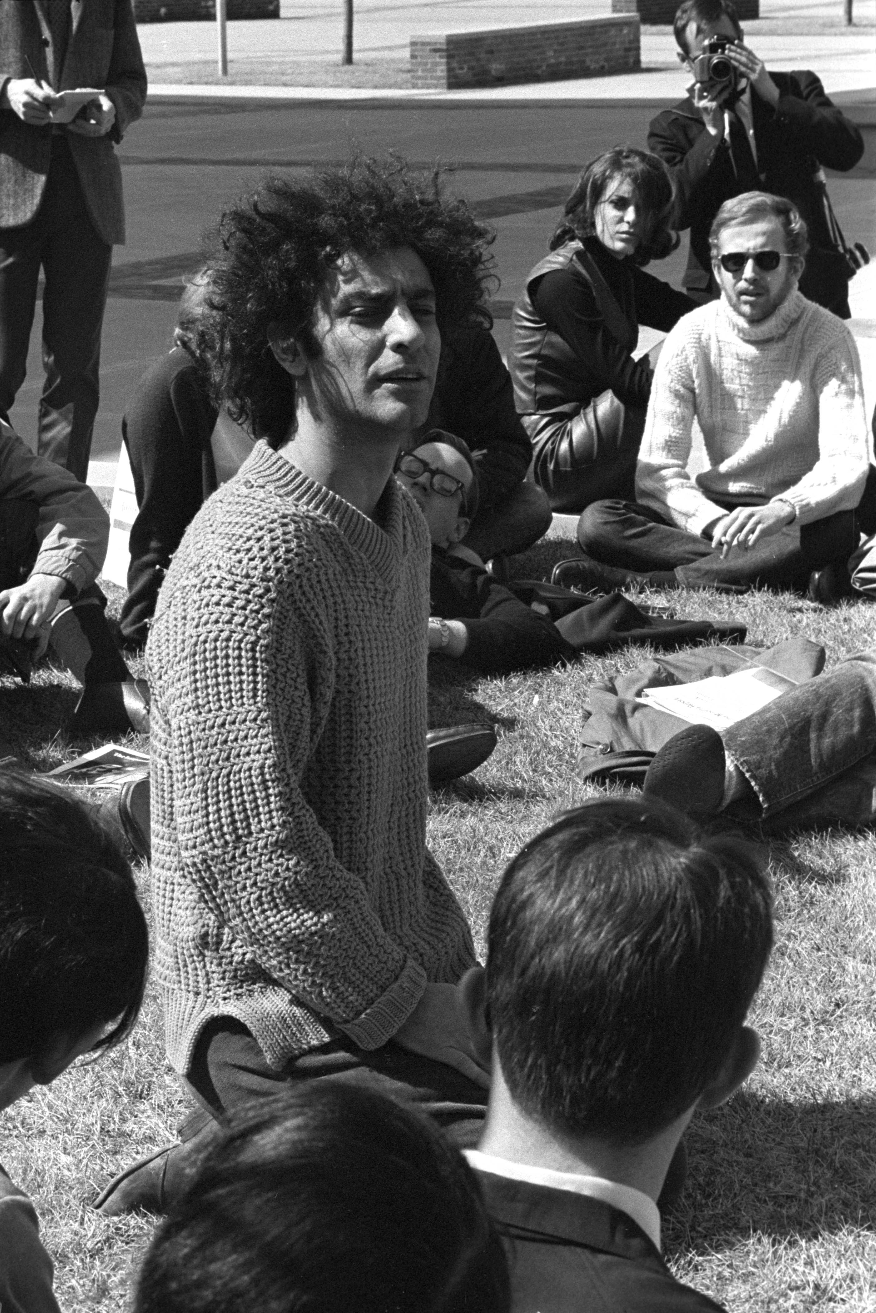 Abbie Hoffman on the Quad, March, 1969