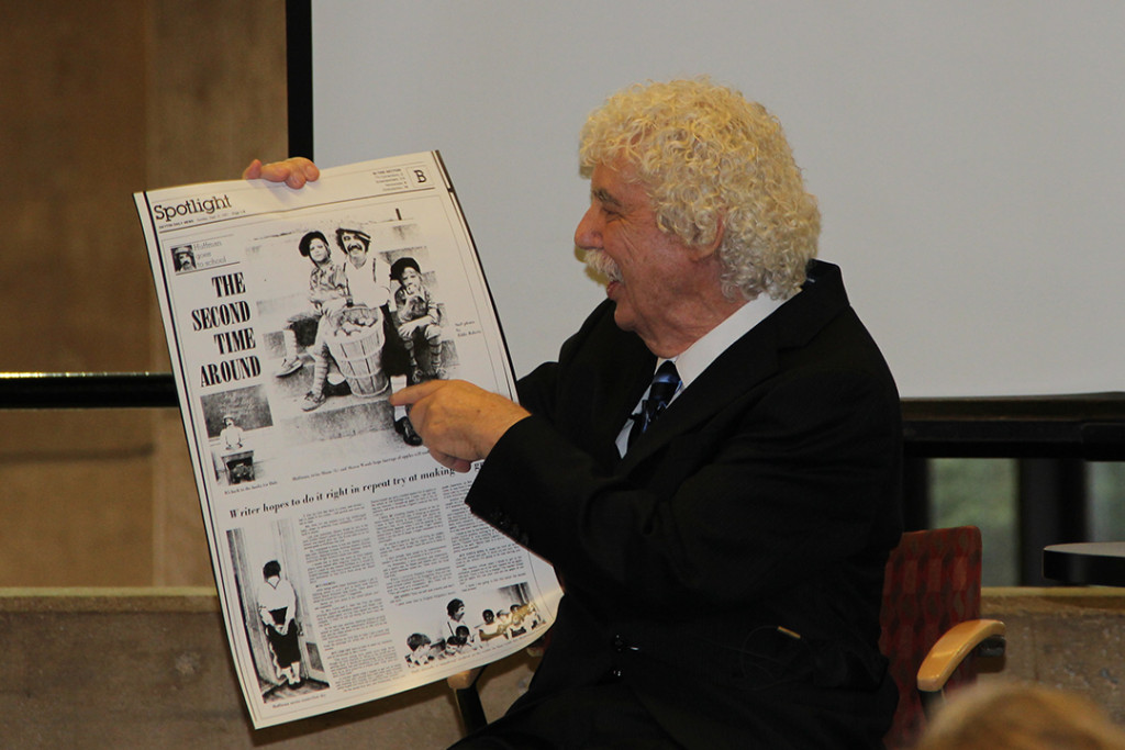 "Dale Huffman telling stories during his presentation ""From the Heart,"" July 18, 2014"