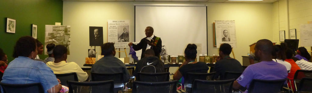Dr. Herbert Martin performs for Summer Bridge Dayton students, July 21, 2014