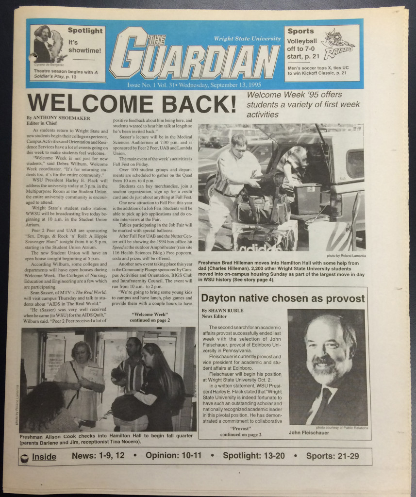 WSU Guardian, 13 Sept. 1995, p. 1