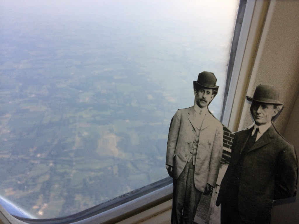 Orville and Wilbur flying high en route to Washington, DC, Aug 9.