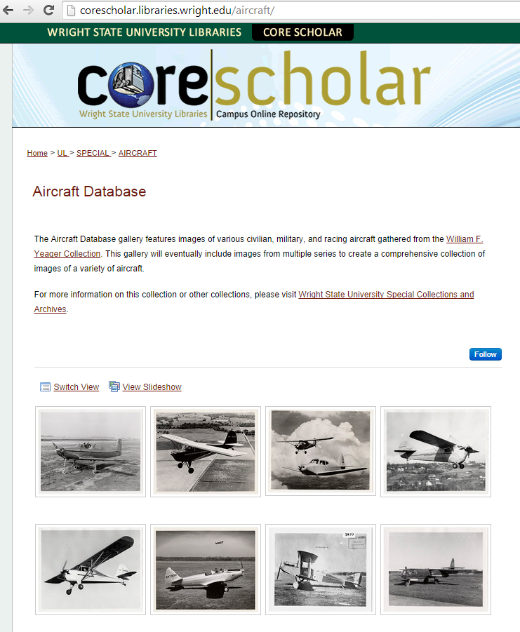 Aircraft Photo Gallery on CORE Scholar