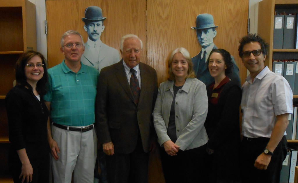 SCA staff members with David McCullough, 25 Sept. 2014