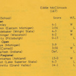 McClintock's wrestling results, 1986-1987