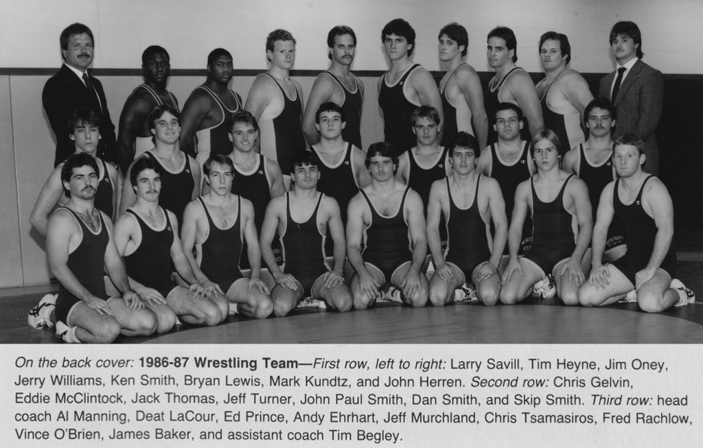 WSU Wrestling Team, 1986-1987