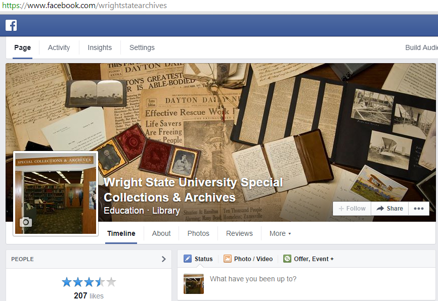 Special Collections & Archives Facebook page, Oct. 2014