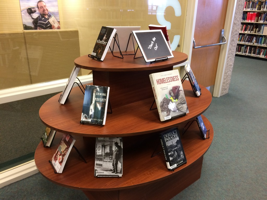 Hunger and Homelessness Book Display, Nov. 2014