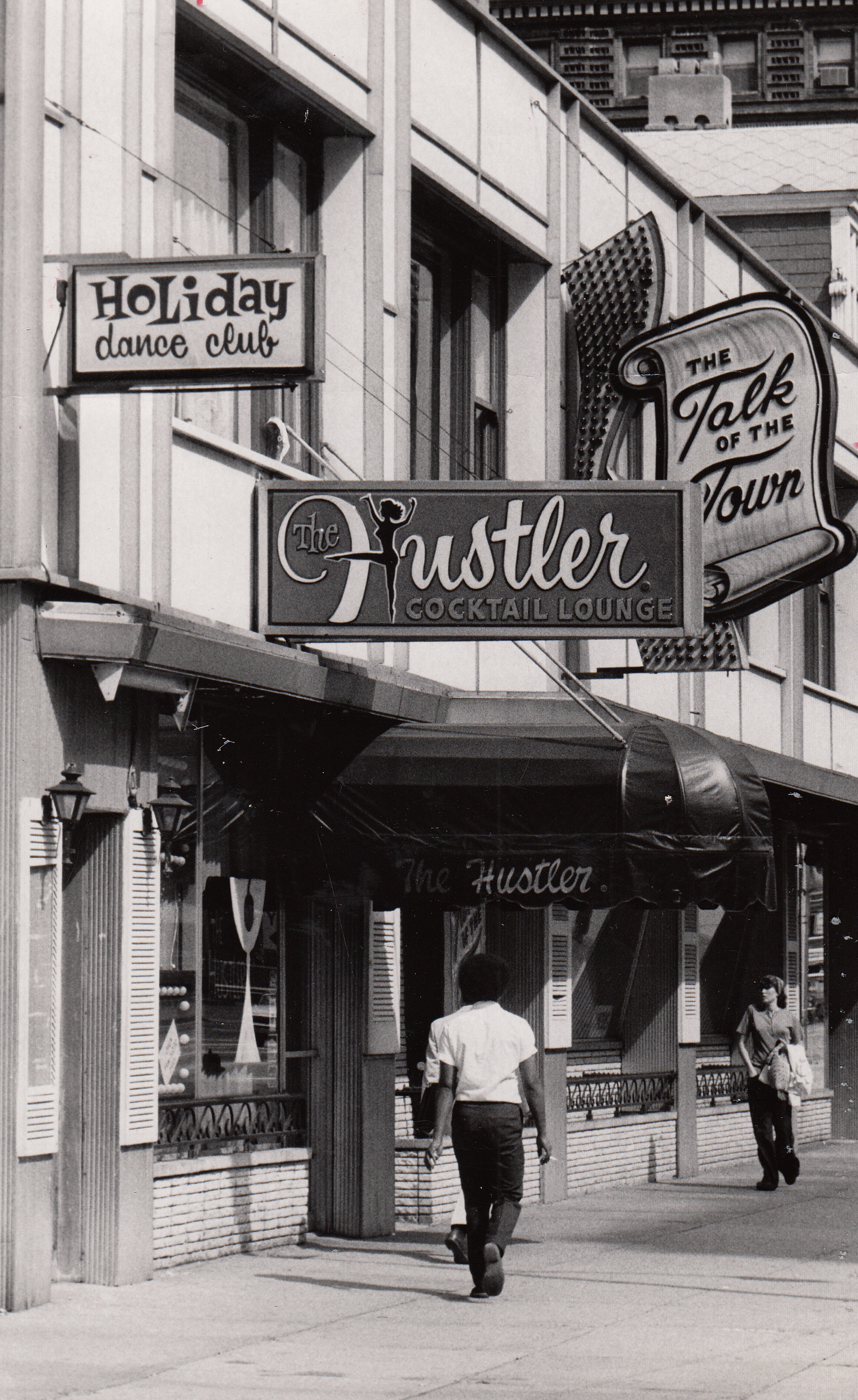 America's first Hustler Club. The Hustler Cocktail Lounge, Dayton, OH, August, 1973.