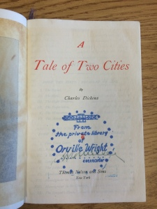 "Orville's copy of ""A Tale of Two Cities."""