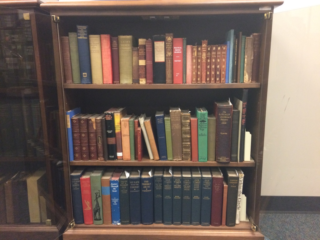 A portion of Orville Wright's private library, Jan. 2015
