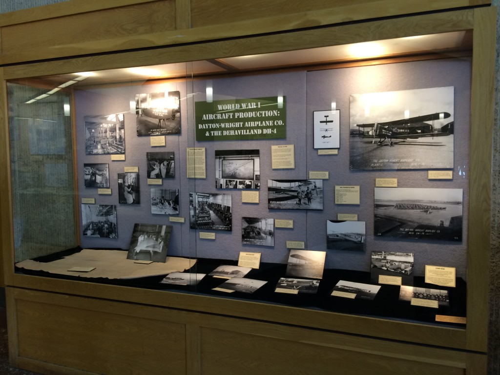 World War I Aircraft Production: Dayton-Wright Airplane Co. & the DeHavilland DH-4 exhibit, March 2015
