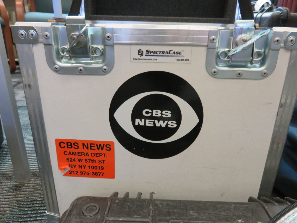 "It really says ""CBS News""! (Not that we had any doubt!)"